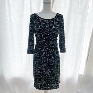 Ann Taylor Jersey Work Dress - Black White - Sz 4